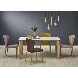Halmar Jídelní stůl WEBER, 160x90 cm, bílý/dub sonoma