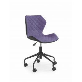 Halmar Dětská židle MATRIX, černá/fialová
