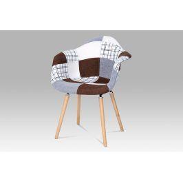 Jídelní židle CT-726 PW2, patchwork / masiv buk