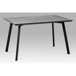 Autronic Jídelní stůl MDT-620 GREY3 130x80 cm, imitace betonu + nohy černý mat