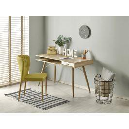Moderní psací stůl B-34, dub sonoma/bílá