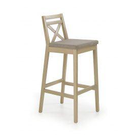 Barová židle vysoká BORYS, dub sonoma
