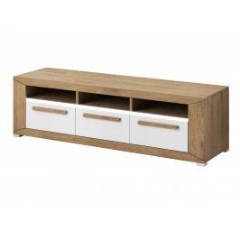 Smartshop LUMI TV stolek TYP 40, dub beaufort/bílý lesk