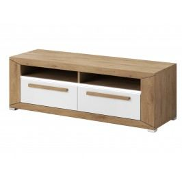 Smartshop LUMI TV stolek TYP 41, dub beaufort/bílý lesk