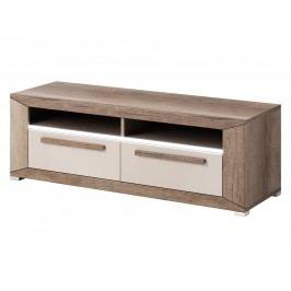 Smartshop LUMI TV stolek TYP 41, dub canyon monument/pískově šedý lesk