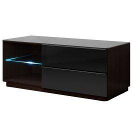 TOGO TV stolek 120 TYP 41, wenge/černé sklo