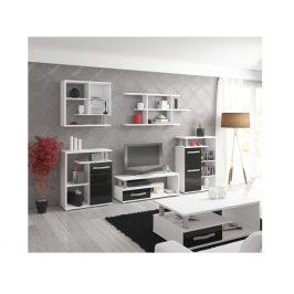 Obývací pokoj ANGEL 1, bílá/černý lesk
