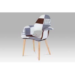 Jídelní židle CT-734 PW2, patchwork / natural