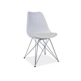 Jídelní židle METAL NEW, bílá