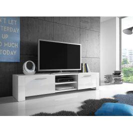 Smartshop Televizní stolek RTV 9, bílá/bílý lesk