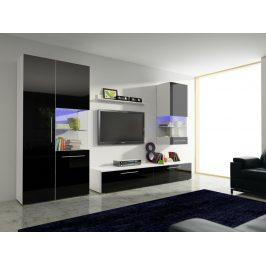Smartshop Obývací pokoj NICEA 2, bílá/černý lesk