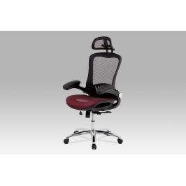 Kancelářská židle KA-A185 RED, černá/červená