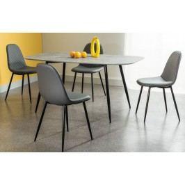 Smartshop Jídelní stůl LACONI, šedá/černá