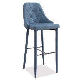 Barová čalouněná židle TRIX, denim