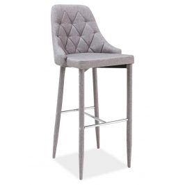 Barová čalouněná židle TRIX, šedá