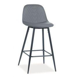 Barová čalouněná židle TEO H-1, šedá