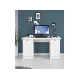 Psací stůl LANDWOOD 31, bílý Psací stoly