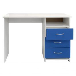 Psací stůl 44, bílá/modrá Psací stoly
