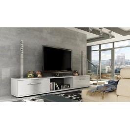 Smartshop TV stolek MALTON, bílý lesk