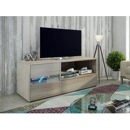 MORAVIA FLAT GLOBAL 1 televizní stolek, dub sonoma
