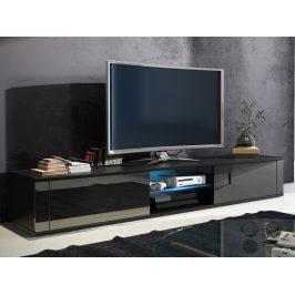 TV stolek HIT, černá/černý lesk