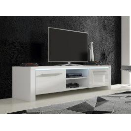 TV stolek HELIX 2, bílá/bílý lesk