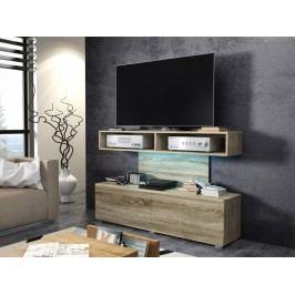 MORAVIA FLAT REX televizní stolek, dub sonoma