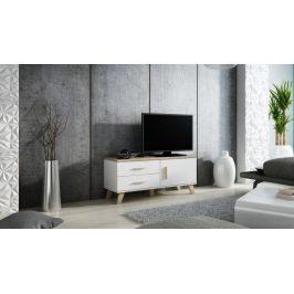 CAMA LOTTA televizní stolek RTV 120 1D2S, bílá/dub sonoma