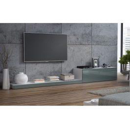 CAMA LIFE, televizní stolek RTV, bílá/šedý lesk