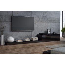 CAMA LIFE, televizní stolek RTV, černá/černý lesk