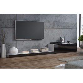 CAMA LIFE, televizní stolek RTV, bílá/černý lesk