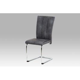 Jídelní židle DCH-192 GREY, šedá konženka/chrom