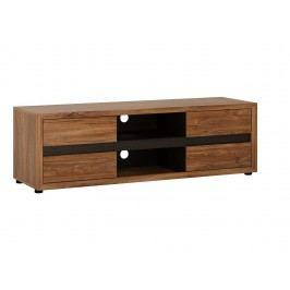 Extom MESSINA MESF02 televizní stolek RTV 2D, dub stirling tmavý/dub cadbury