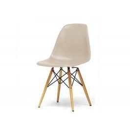 Jídelní židle CINKLA NEW, cappuccino-vanilková/buk