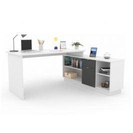 DALTON psací stůl, bílá/grafit