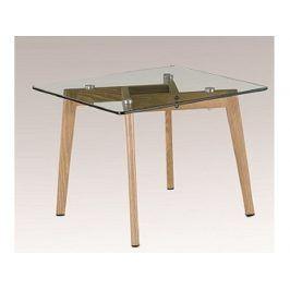 PEDREK 1 konferenční stolek, sklo/kov