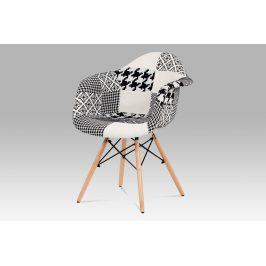 Jídelní židle CT-756 PW2, patchwork/masiv buk <br>