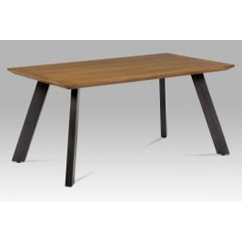 Autronic Jídelní stůl HT-303 OAK, dýha dub/broušený kov černý antik