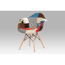 Jídelní židle CT-755 PW2, patchwork/masiv buk