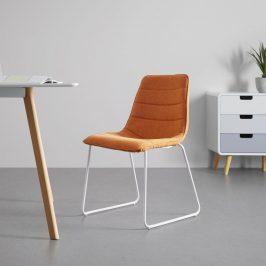 Jídelní Židle Mira Oranžová Židle do kuchyně
