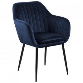 Židle S Područkami Emilia Tmavě Modrá