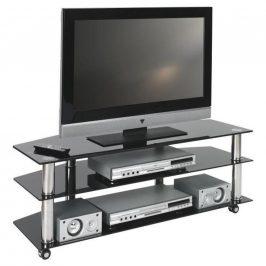 TV STOLEK - černá, barvy chromu