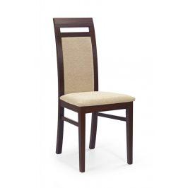Jídelní židle ALBERT tmavý ořech Halmar