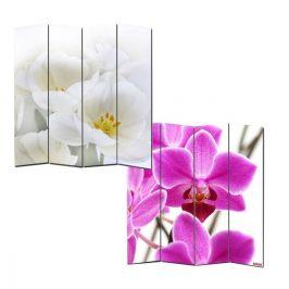 Designový paravan WH orchidej 160x180 cm (4-dílný)