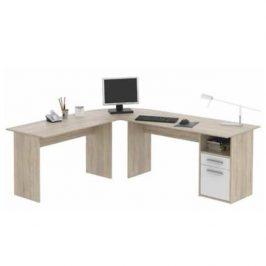 Rohový psací stůl MAURUS NEW MA11 dub sonoma / bílá Tempo Kondela