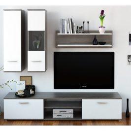 Obývací stěna WAW NEW dub trufel / bílá Tempo Kondela Obývací stěny