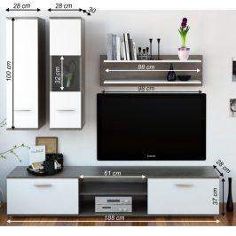 Obývací stěna WAW NEW dub trufel / bílá Tempo Kondela