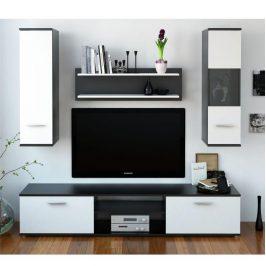 Obývací stěna WAW NEW černá / bílá Tempo Kondela Obývací stěny