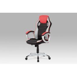 Kancelářská židle KA-V507 RED červená / černá Autronic