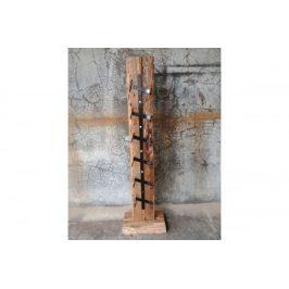 Stojan na víno WLD136 dřevořezba z recyklovaného dřeva